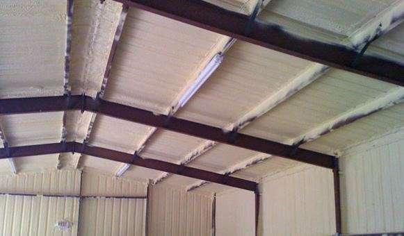 Polyurethane Spray Foam Metal Roof Insulation