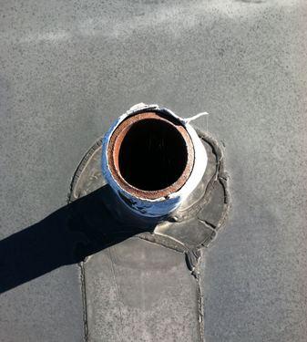 roof leaking pipe flashing