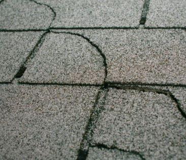 broken cracked roof