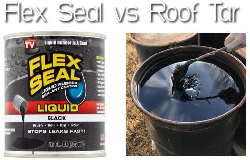 Flex Seal vs Roof Tar