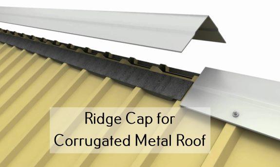 Ridge Cap for Corrugated Metal Roof