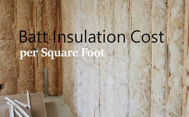 Batt insulation cost