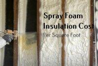 Spray Foam Insulation Cost Per Square Foot