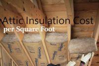 attic insulation cost per square foot